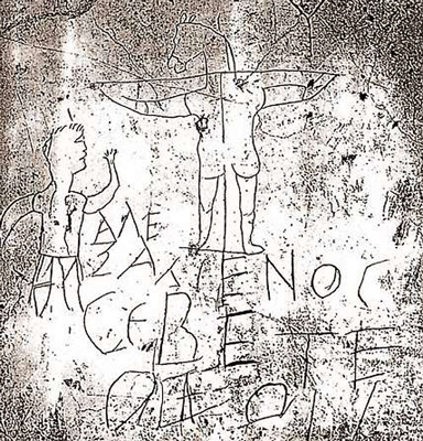 Das Spottkruzifix von Palatin