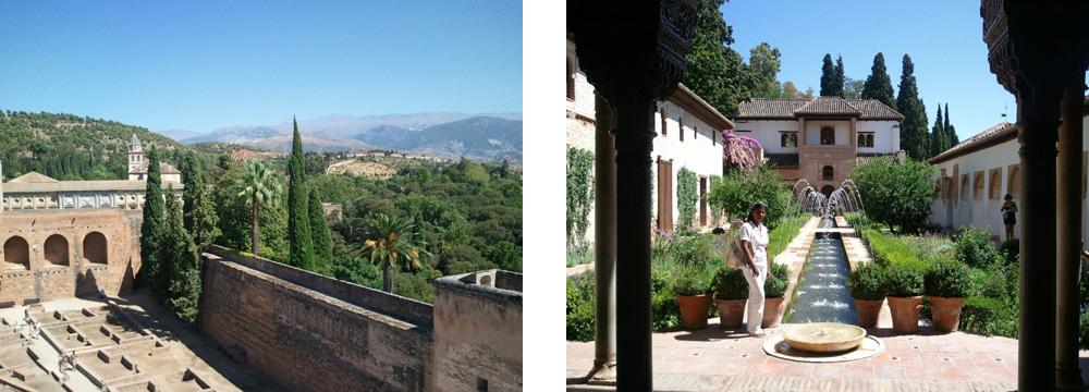 Granada mit Sierra Nevada im Hintergrund & Alhambra