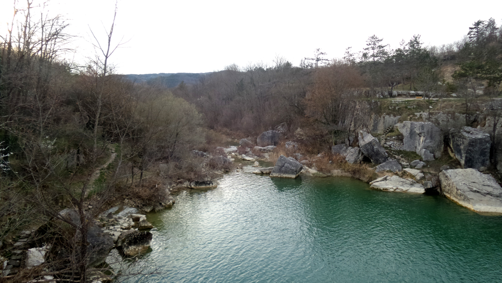 Natursee nahe Pazin in Istrien