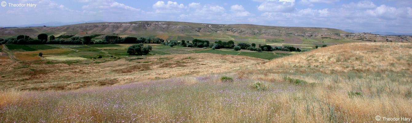 Lystra - Panoramablick mit Stadttor und Zeustempel