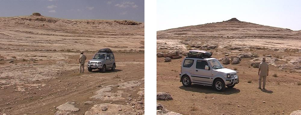 Mit dem Gelendewagen durch das untere Siedlungsareal von Eski Sumatar