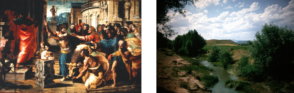Opfer von Lystra (Rafael) & Panorama von Lystra