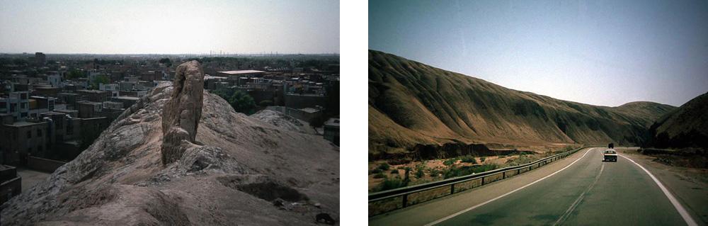 Die Ruinen von alten Ragae in Medien und der Weg zur Kaspischen Pforte