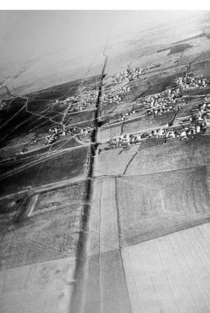 Iran - Luftaufnahme des Alexanderwalls (nach Kiyani)