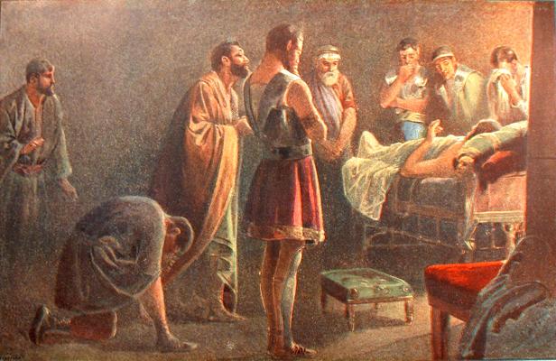 Alexanders am Sterbebett