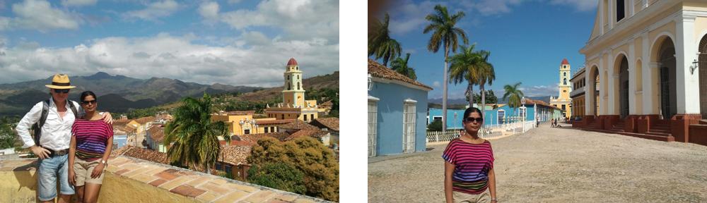 Autor und Manju Sarala Nair in Trinidad auf Kuba