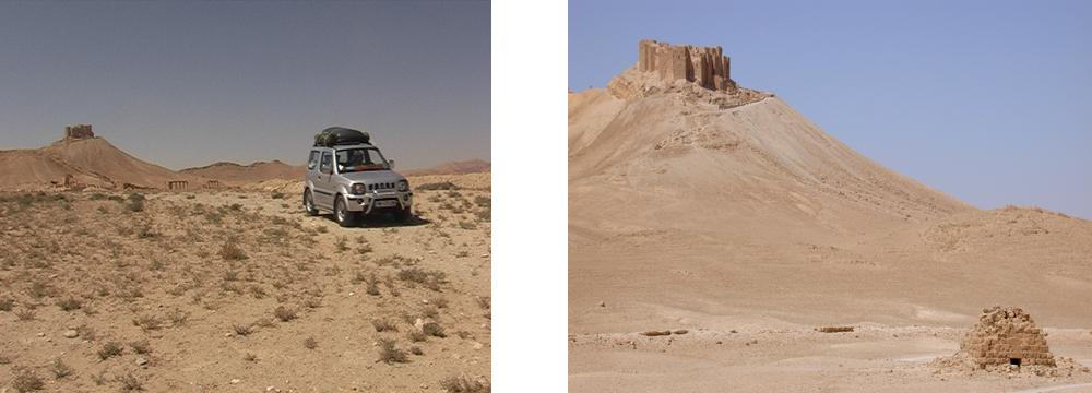 Amhunft in Palmyra und die Burg mit Grabruine