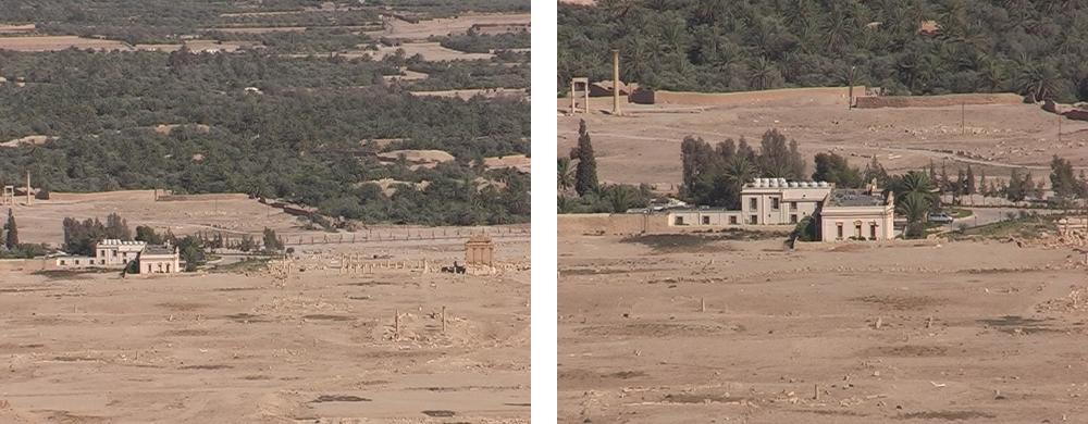 Hotel Zenobia in Palmyra aus der Vogelperspektiive