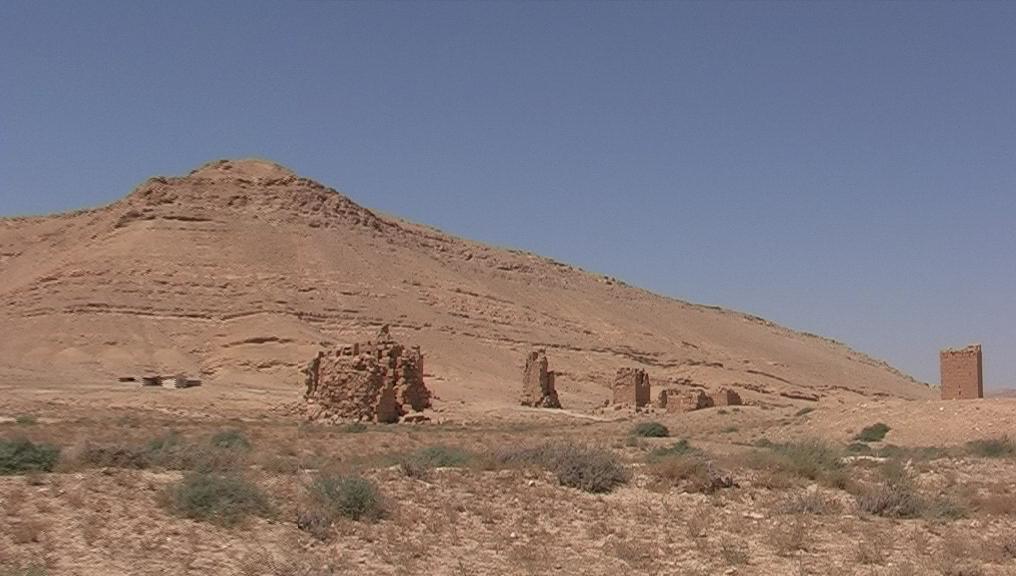 Mittlere Gruppe kleine Grabturme von Palmyra