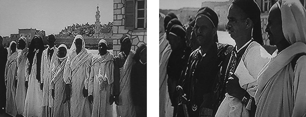 Die Scheich der Siwa Oase & Scheich Ali Haidar (Mitte))