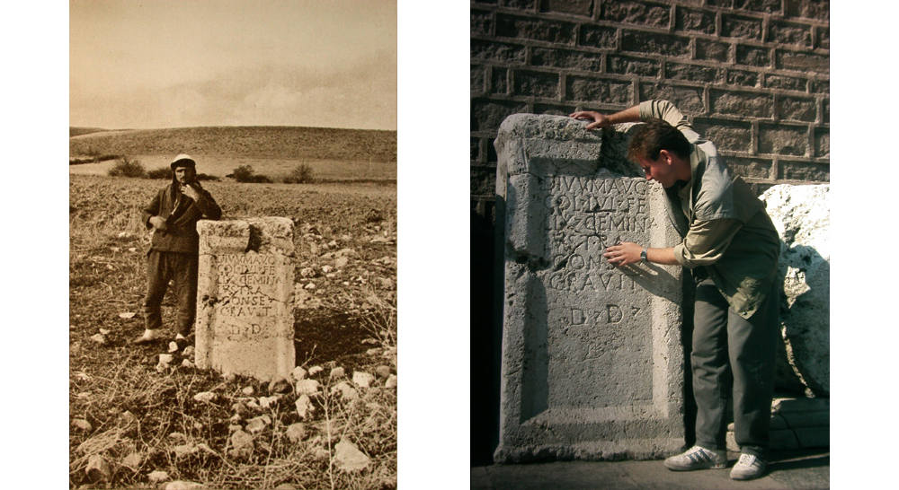 Lystra-Inschrift 1936 in Lystra (nach H. V. Morton) & Lystra-Inschrift (Museum in Konya)