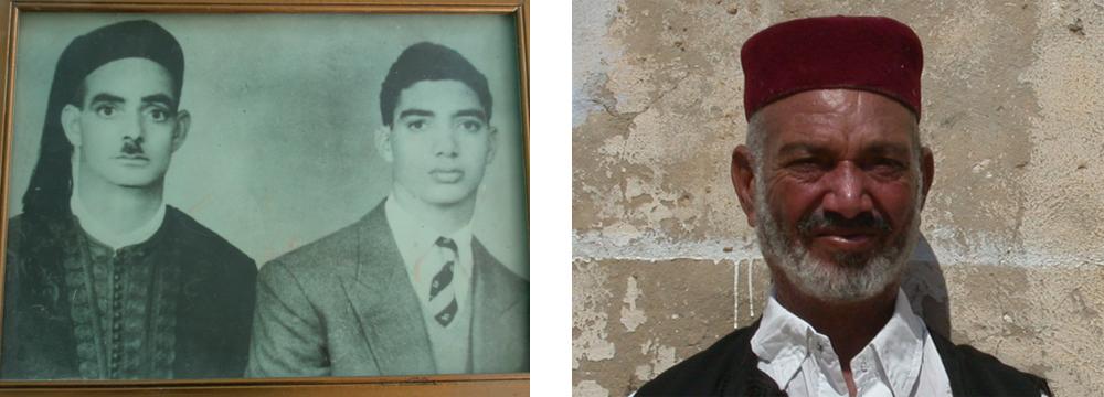 Scheich Ali Haidar von Siwa mit dem Sohn Ahmad in den Jahren nach dem 2. Weltkrieg & Scheich Ahmad Haidar im Jahre 2007