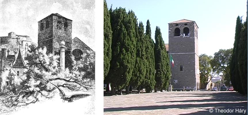 Kathedrale San Guisto auf der Burg von Triest (Jules Verne 1885)