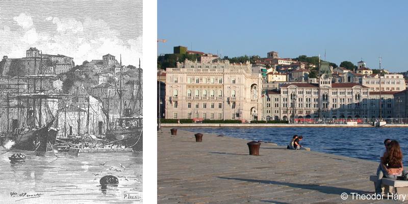 Vue de Trieste (Jules Verne 1885)