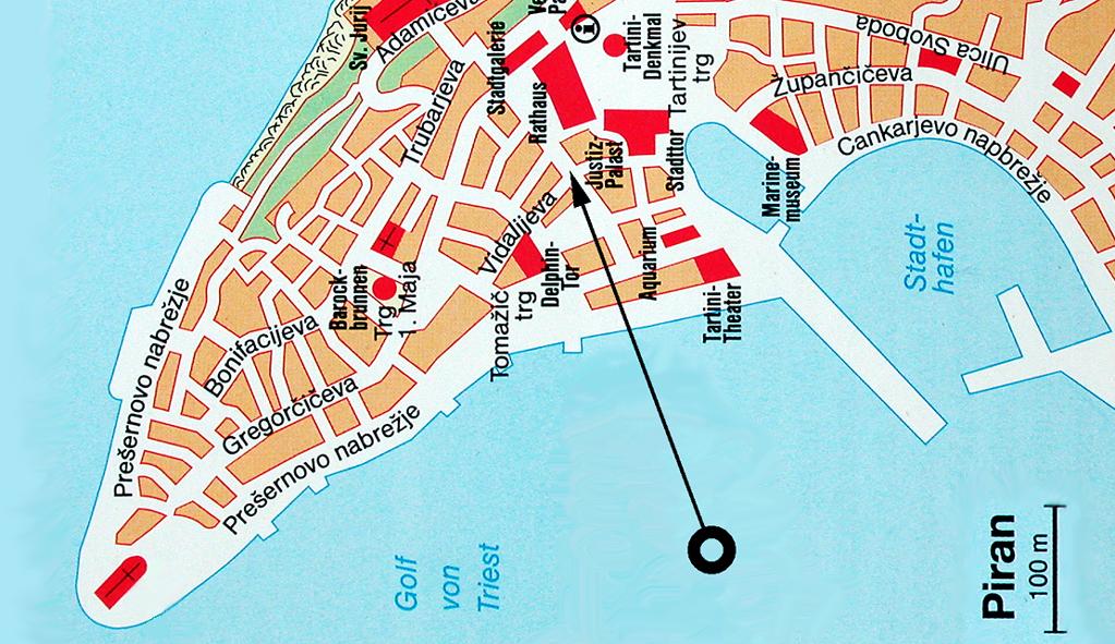 Stadtplan von Piran